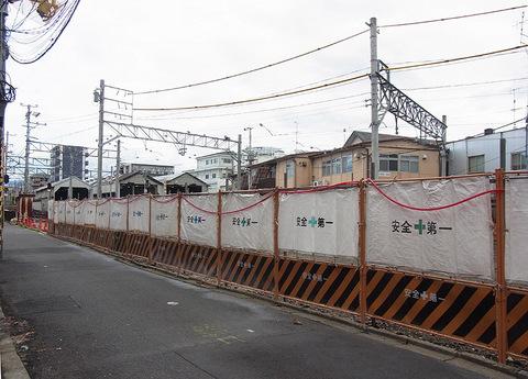 京福西院ビル解体跡地 西側の通20150910