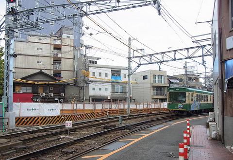 京福西院ビル 解体跡地 江ノ電号631号車20150910