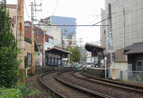 京福 嵐電西院駅 四条大宮7号踏切付近より20150910
