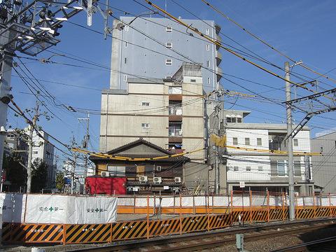 京福西院ビルの再開発現場20150915