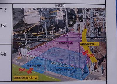 完成後の阪急・嵐電の乗換イメージ図