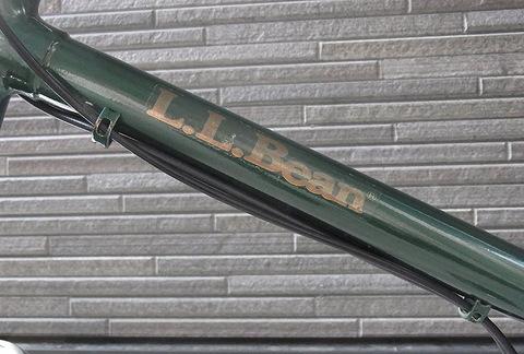 L.L. Beanの折り畳み自転車のエンブレム